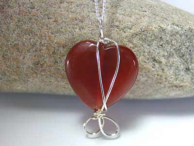 heart agate jewellery