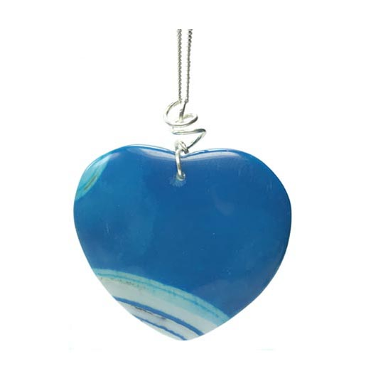 agate heart jewellery