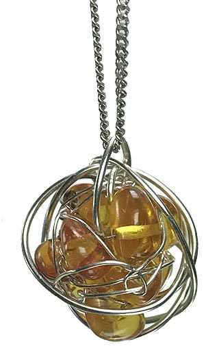 amber silver wrapped jewellery