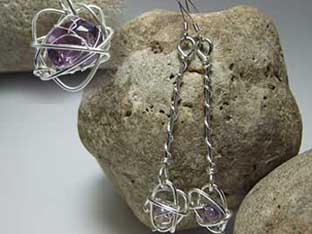 bespoke amethyst earrings