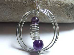 amethyst handmade purple jewellery