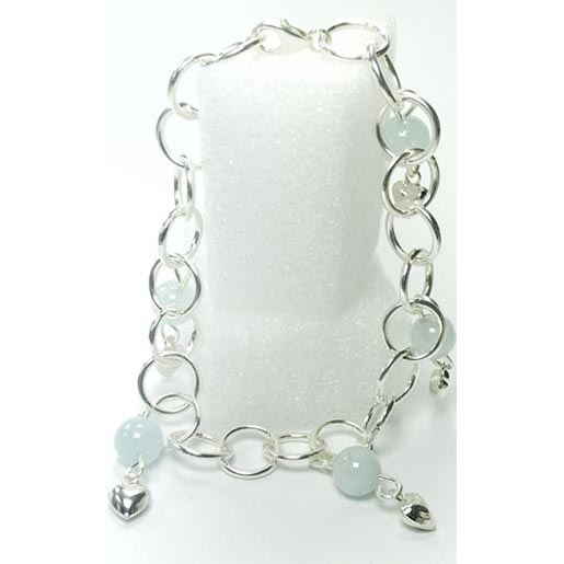 aquamarine links bracelet
