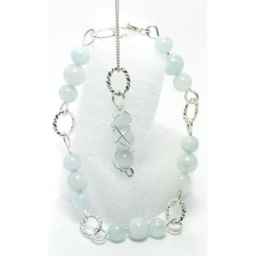 aquamarine bracelet set