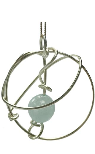aquamarine feature pendant