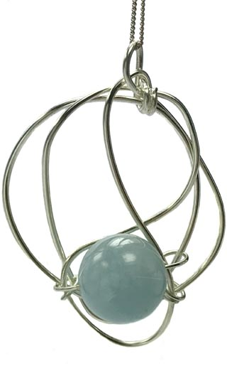 aquamarine bespoke necklace