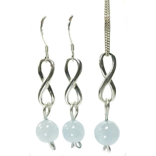 aquamarine necklace and earrings set