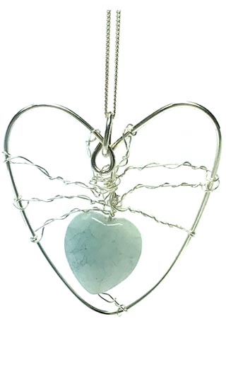 aquamarine heart jewellery