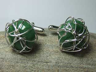 bespoke emerald cufflinks