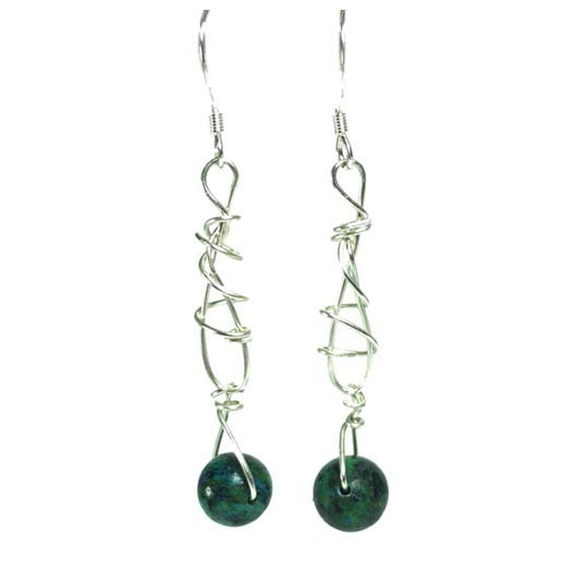 chrysocolla jewellery earrings