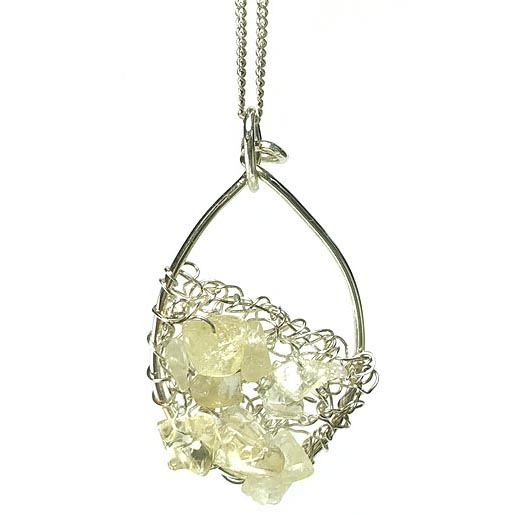 citrine knitted jewellery