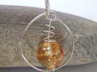 large round citrine jewellery