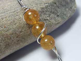 citrine handmade jewellery tower