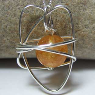 citrine heart jewellery