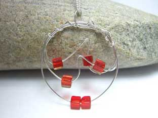 red cubes jewellery