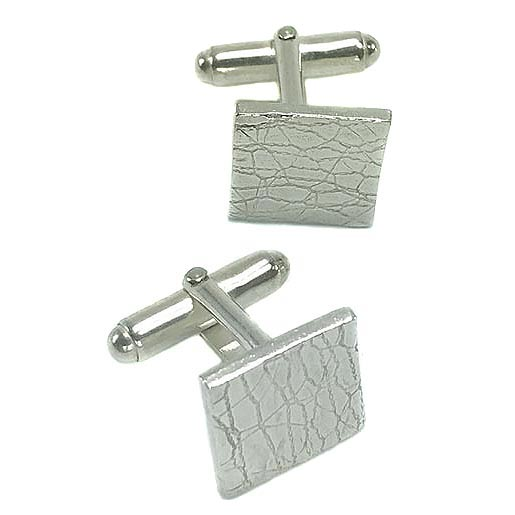 leather look cufflinks