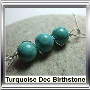 december birthstone turquoise jewellery