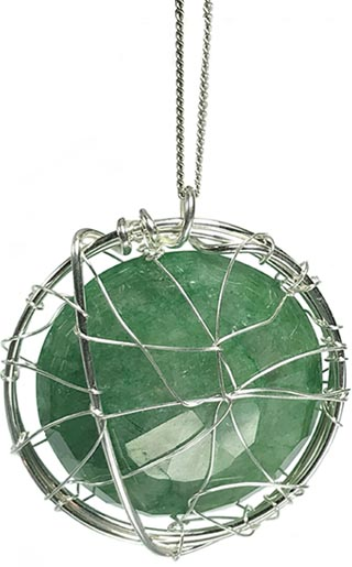 Emerald handmade jewellery uk silver wire designs large round emerald necklace aloadofball Image collections