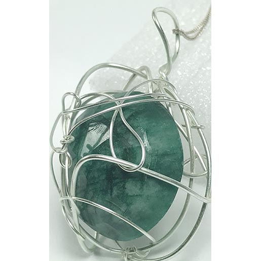 emerald handmade jewellery with silver