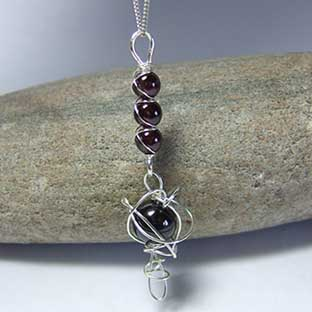contemporary garnet jewellery