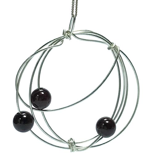 spiral garnet necklace