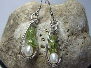 small gemstone earrings