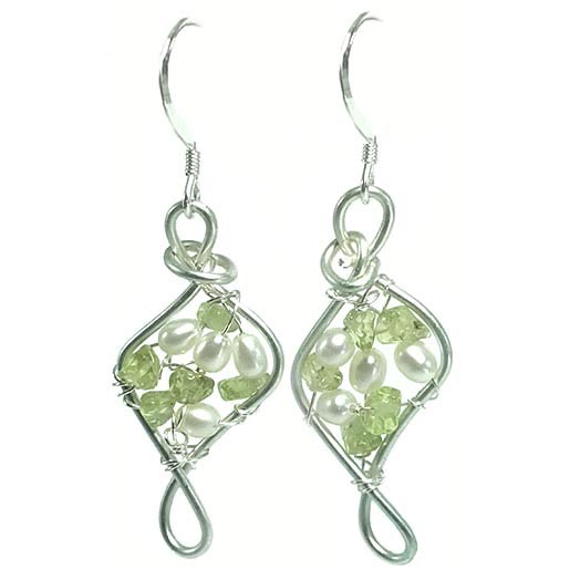 peridot gemstone earrings