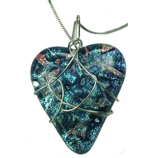 blue heart jewellery