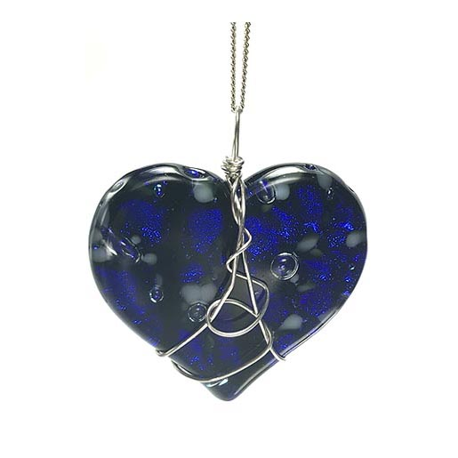 deep blue heart jewellery
