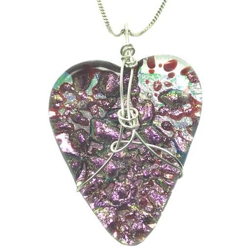 sparkly heart jewellery