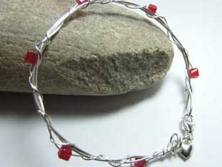 red jade handmade bangle