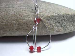 red jade cubes necklace