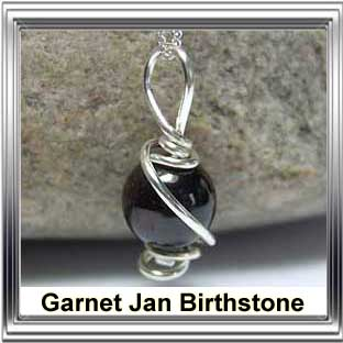 january birthstone garnet jewellery