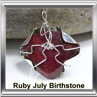 july birthstone ruby jewellery