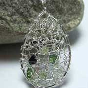 knitted silver jewellery