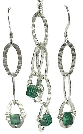 malachite contemporary jewellery