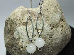 moonstone rainbow earrings