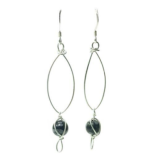 obsidian handmade earrings