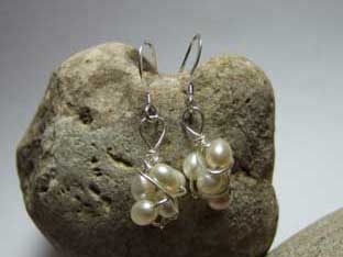 pearl twisted earrings
