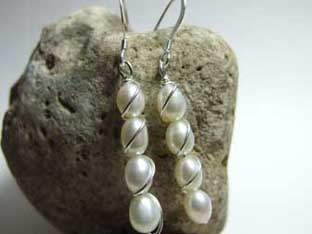 tower of pearls drop earrings