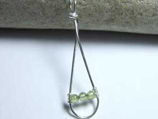 peridot long jewellery