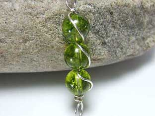 peridot jewellery tower pendant