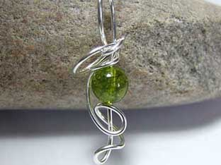 contemporary peridot jewellery