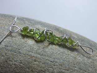 unusual peridot necklace
