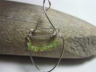 unusual handmade peridot jewellery