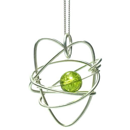 peridot heart jewellery