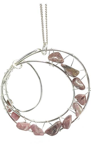 pink feature pendant