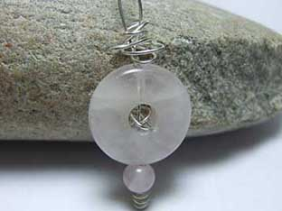rose quartz contemporary jewellery