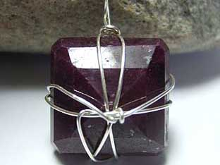 58 carat square ruby jewellery