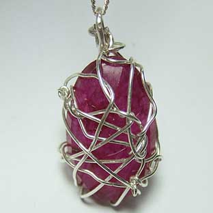 Ruby Jewellery Large Pink Necklace