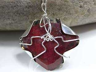 ruby and sheet silver jewellery